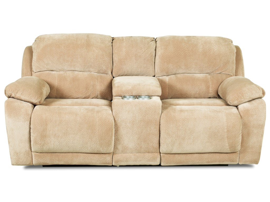 Klaussner CharmedConsole Reclining Loveseat
