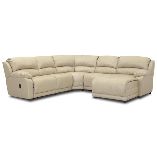 Klaussner Charmed Five Piece Sectional Sofa with Chaise