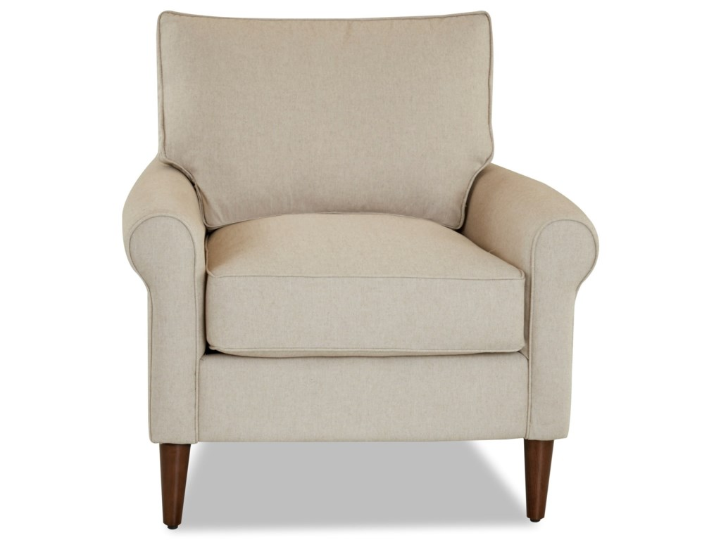 Klaussner ChelseaChair with Round Tapered Legs