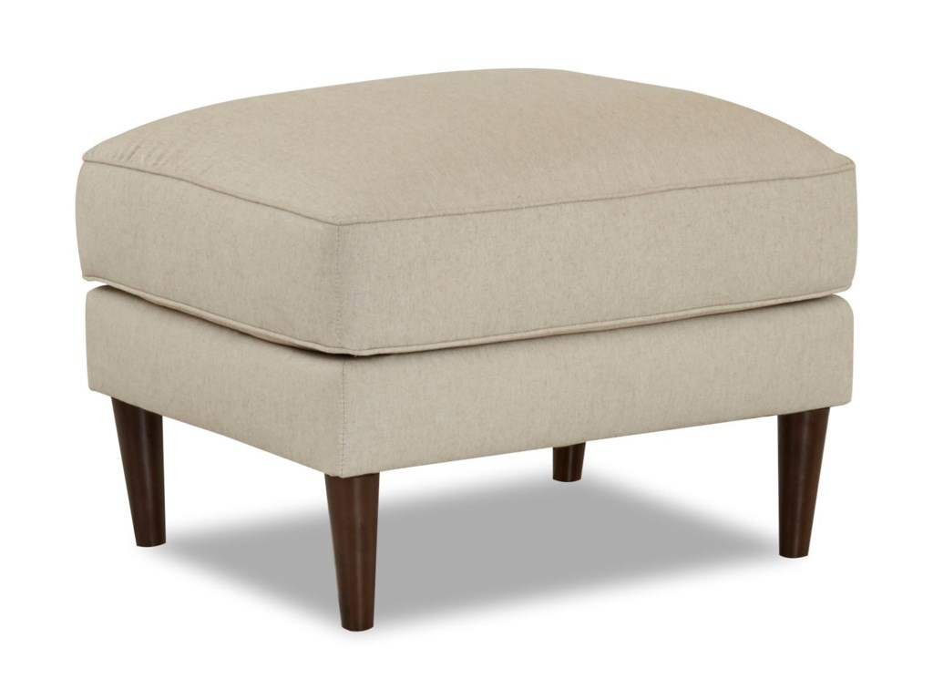 Klaussner ChelseaOttoman with Round Tapered Legs