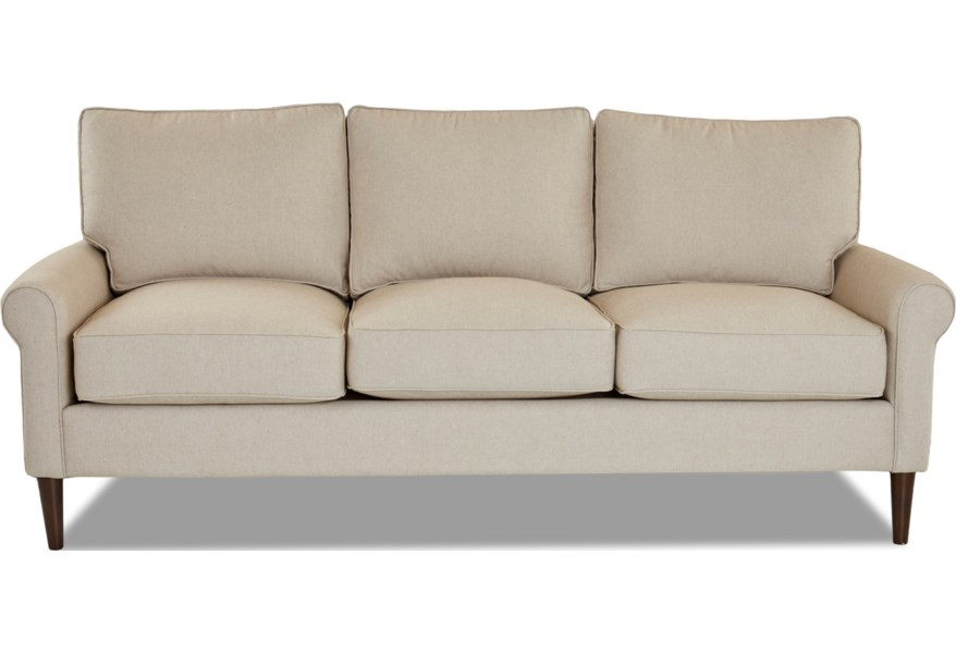 Sofa With Round Tapered Legs