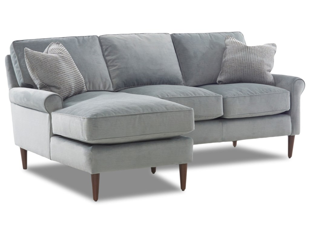 Klaussner ChelseaSectional with Round Tapered Legs