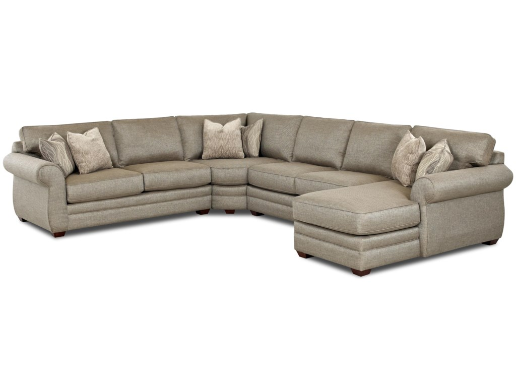trim item traditional sofa huntleytraditional nailhead height sectional huntley with threshold products and klaussner width