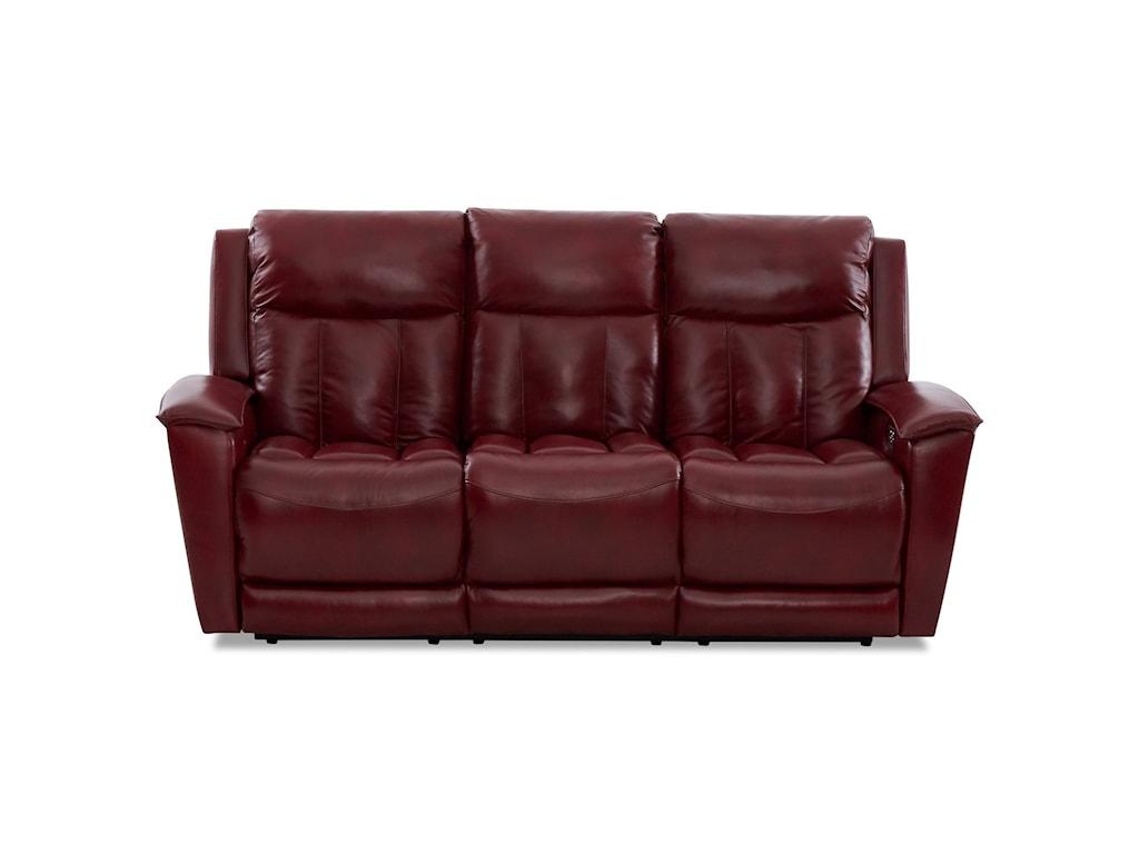 Klaussner CliffordPower Reclining Sofa w/ Pwr Headrests