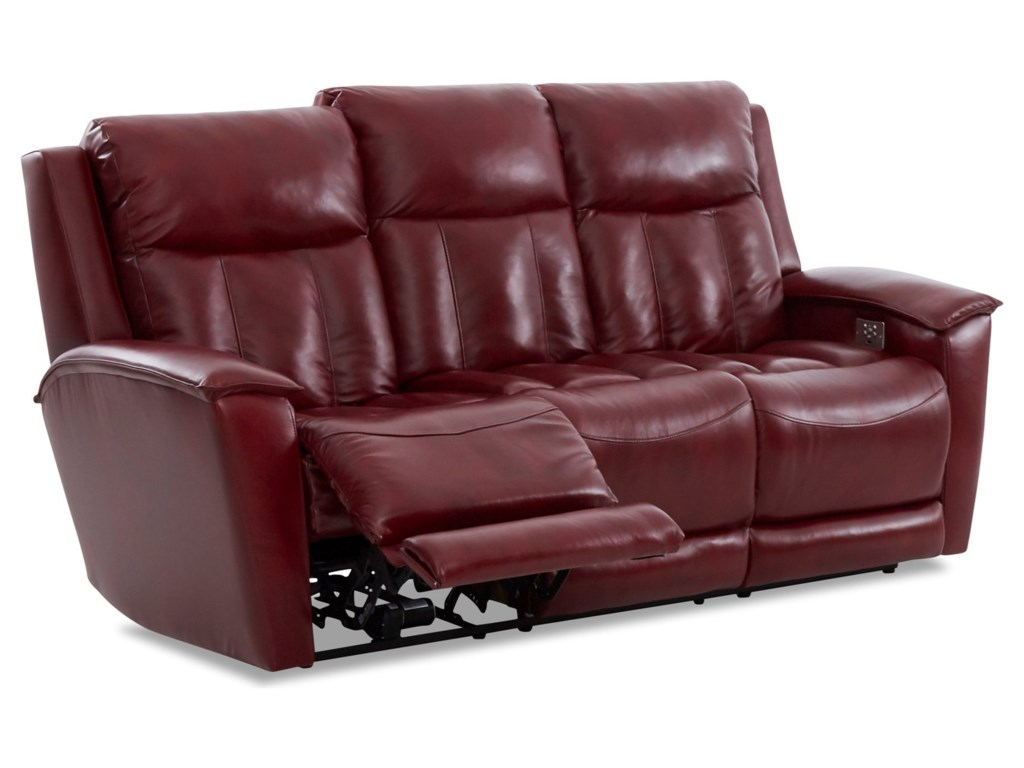 Simple Elegance CliffordPower Reclining Sofa w/ Pwr Headrests