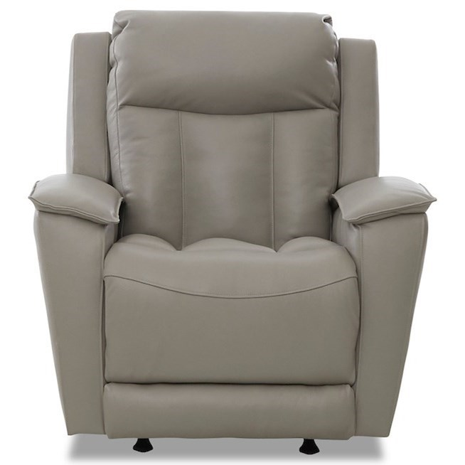 Contemporary Power Rocking Reclining Chair with USB Port and Power Headrest
