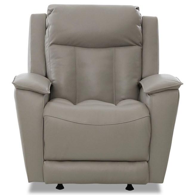 Contemporary Power Reclining Chair with Power Headrest / Lumbar