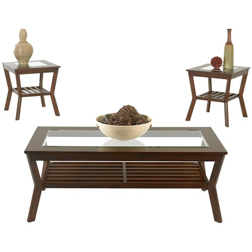 Klaussner International Clifton Casual Cocktail and End Table Group