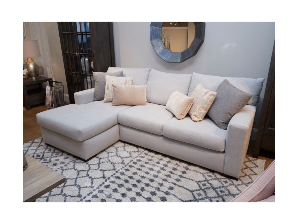Klaussner ColeySectional Sofa with Chaise