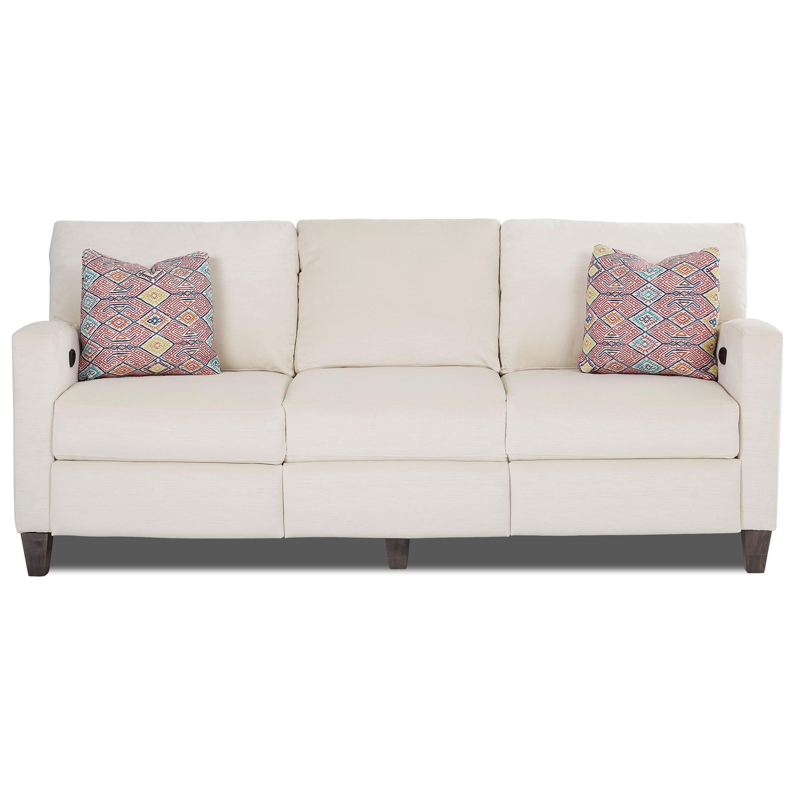 Power Hybrid Sofa with 2 Reclining Seats