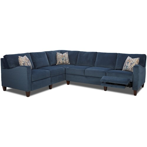 Klaussner Colleen Hybrid Reclining Sectional with LAF Corner Sofa