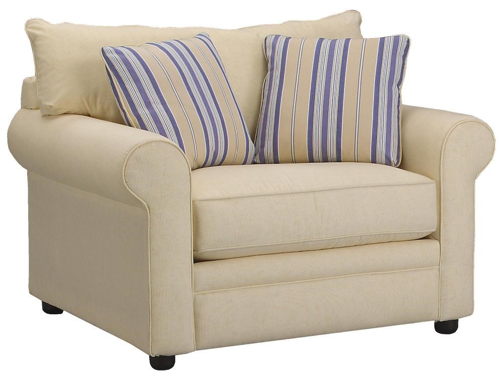 Klaussner Comfy Casual Big Chair Godby Home Furnishings Chair
