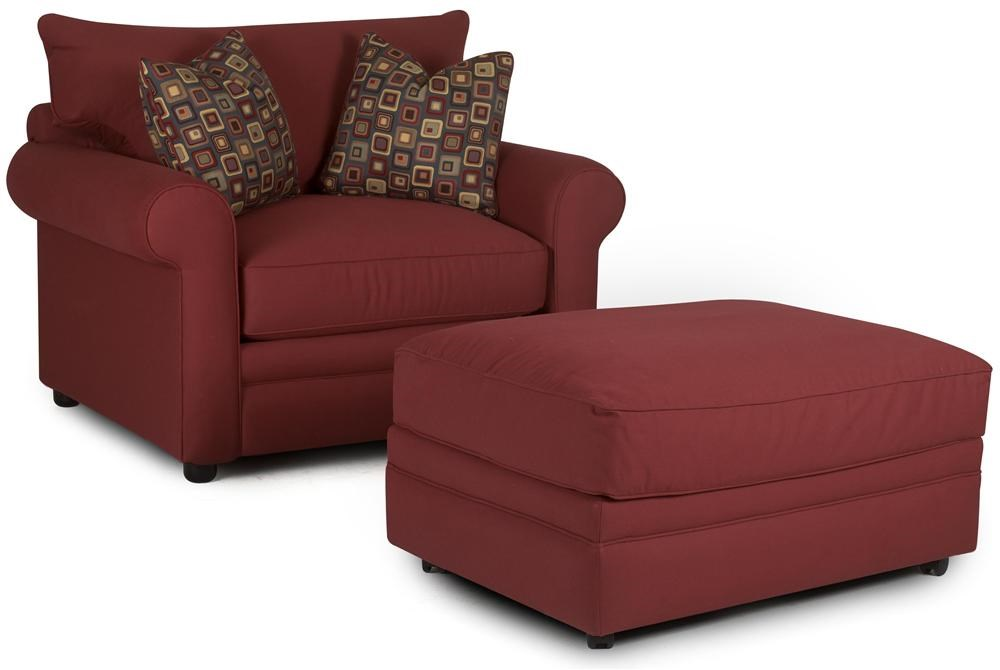 Klaussner Comfy Casual Chair and Ottoman - Godby Home Furnishings - Chair u0026 Ottoman Noblesville ...