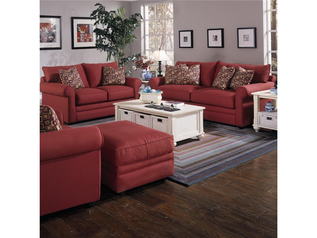 Shown With Ottoman, Sofa, and Loveseat