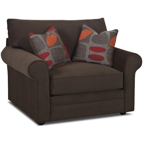 Klaussner Comfy Casual Big Chair Godby Home Furnishings