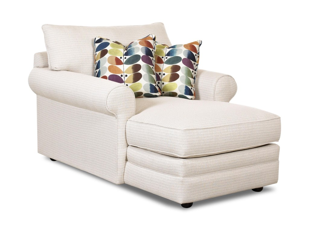 Klaussner comfy 36330 chase casual chaise lounge dunk bright furniture chaises
