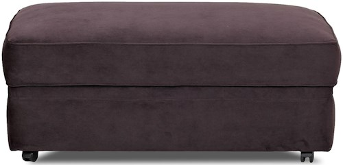 Klaussner Comfy Storage Ottoman with Casters