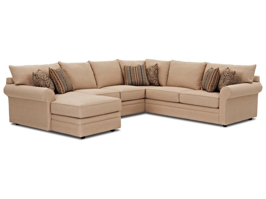 Klaussner ComfySectional Sofa w/ LAF Chaise