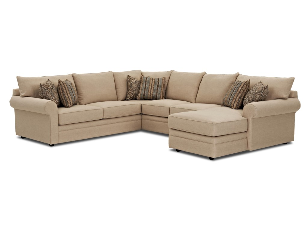 Klaussner comfysectional sofa w raf chaise
