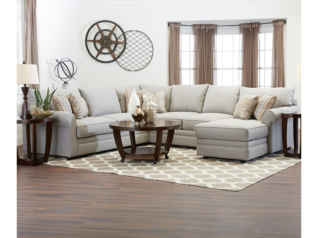 Comfy Sectional Sofa w/ RAF Chaise