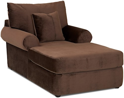 Klaussner Cora Casual Plush Chaise Lounge