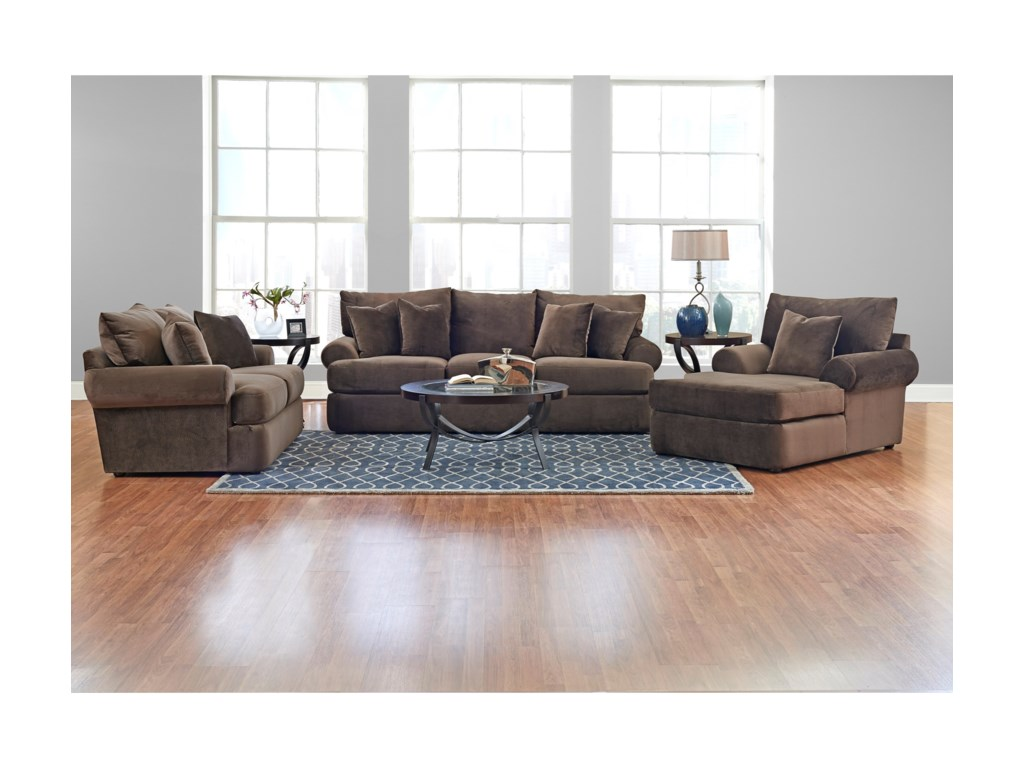 Klaussner Cora K41200 CHASE Casual Plush Chaise Lounge | Dunk ...