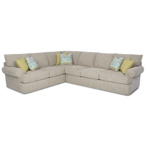 Klaussner Cora Casual 2 Piece Corner Sectional