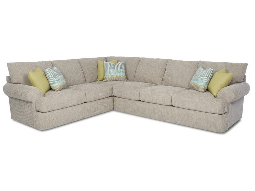 Klaussner Cora Casual 2 Piece Corner Sectional | Wayside Furniture ...