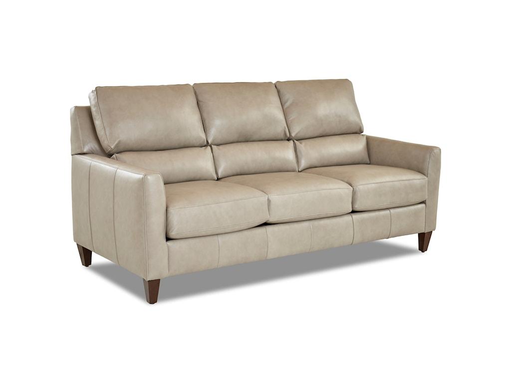 Klaussner CortlandLeather Sofa