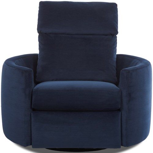 Klaussner Cosmo Contemporary Reclining Swivel Chair