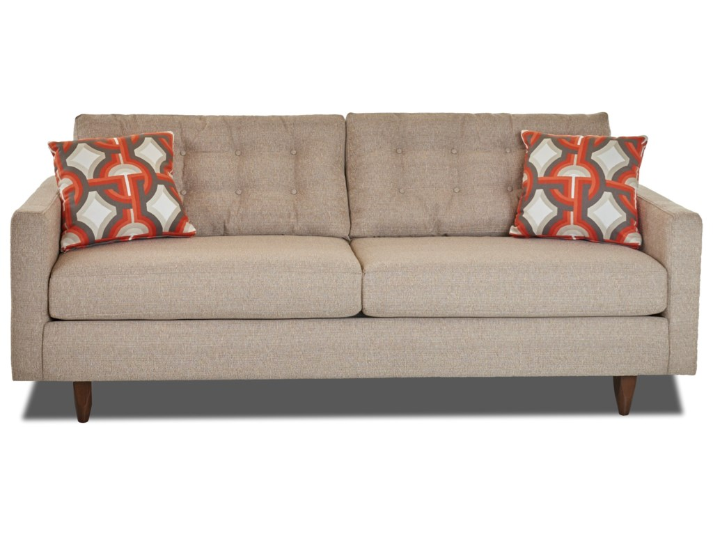 Elliston Place Craven Contemporary Button-Tufted Sofa with Tall ...