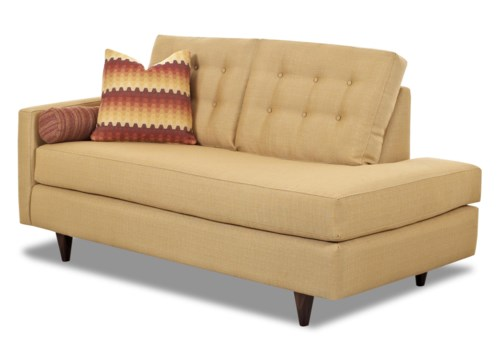 Klaussner Craven Contemporary Left Arm Facing Chaise Lounge with