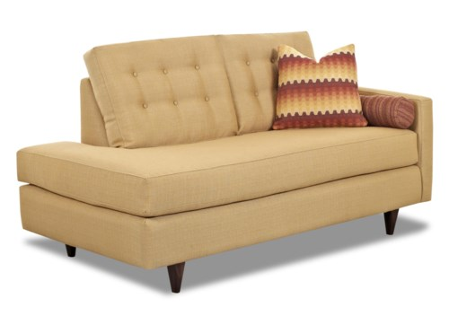 Klaussner Craven Contemporary Right Arm Facing Chaise Lounge with