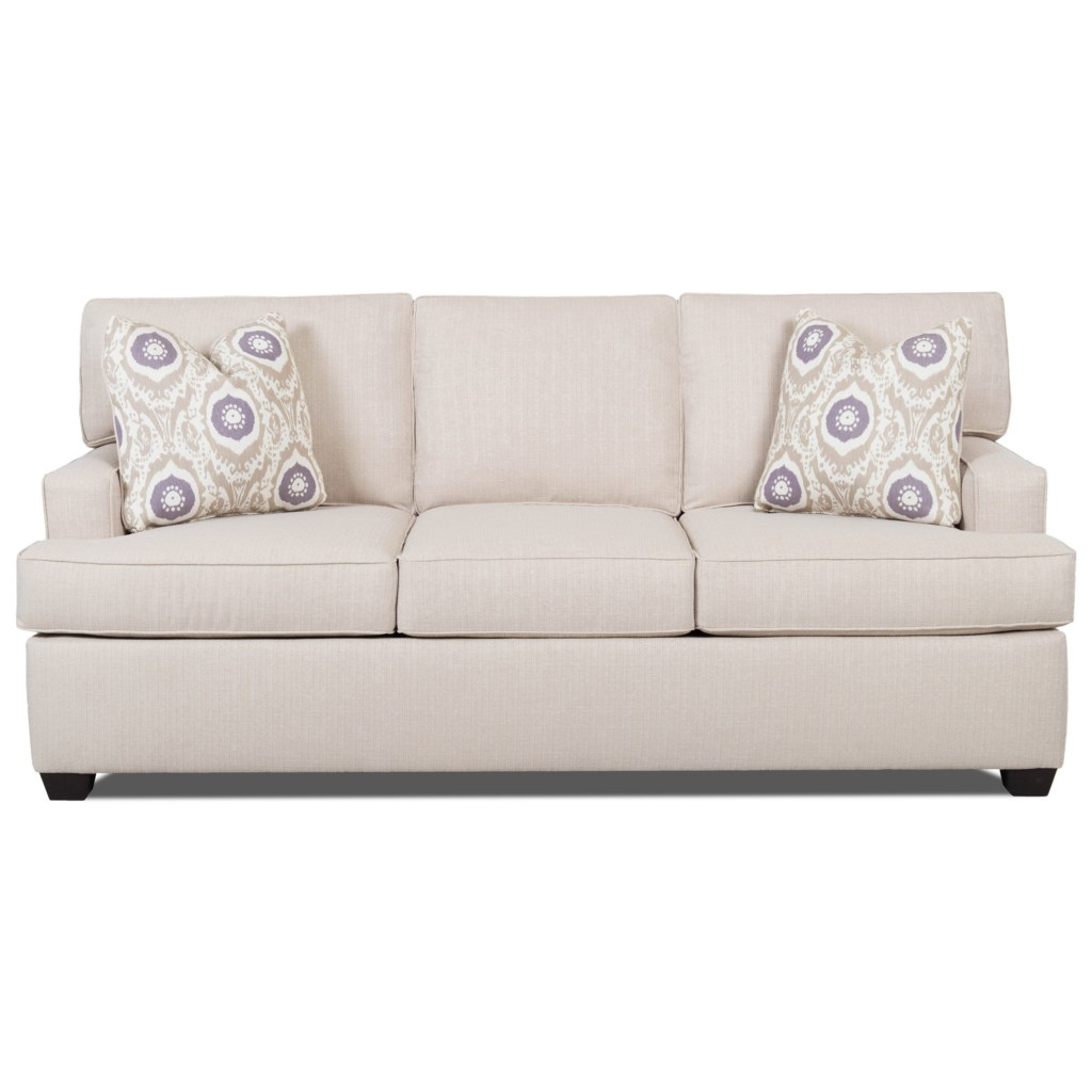 Klaussner Cruze Contemporary Sleeper Sofa With Track Arms And  ~ Sofa Sleepers With Memory Foam Mattress