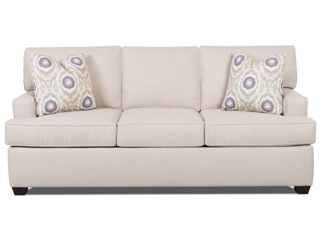 Klaussner Cruze Contemporary Sleeper Sofa with Track Arms and Queen ...
