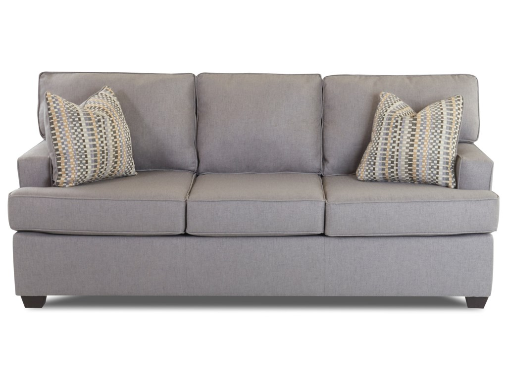 Klaussner Cruze Contemporary Sleeper Sofa with Track Arms ...