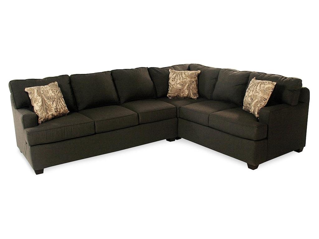Julep Two Piece Corner Sectional Sofa W Sunbrella Fabric