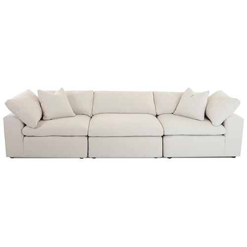 Klaussner Monterey Contemporary 3 Pc Modular Sofa