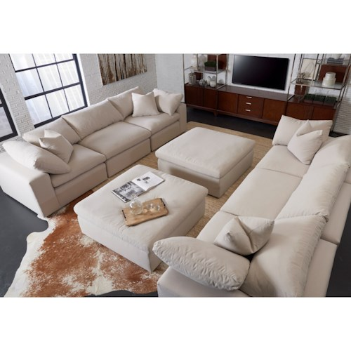 Klaussner Monterey Contemporary Stationary Living Room Group