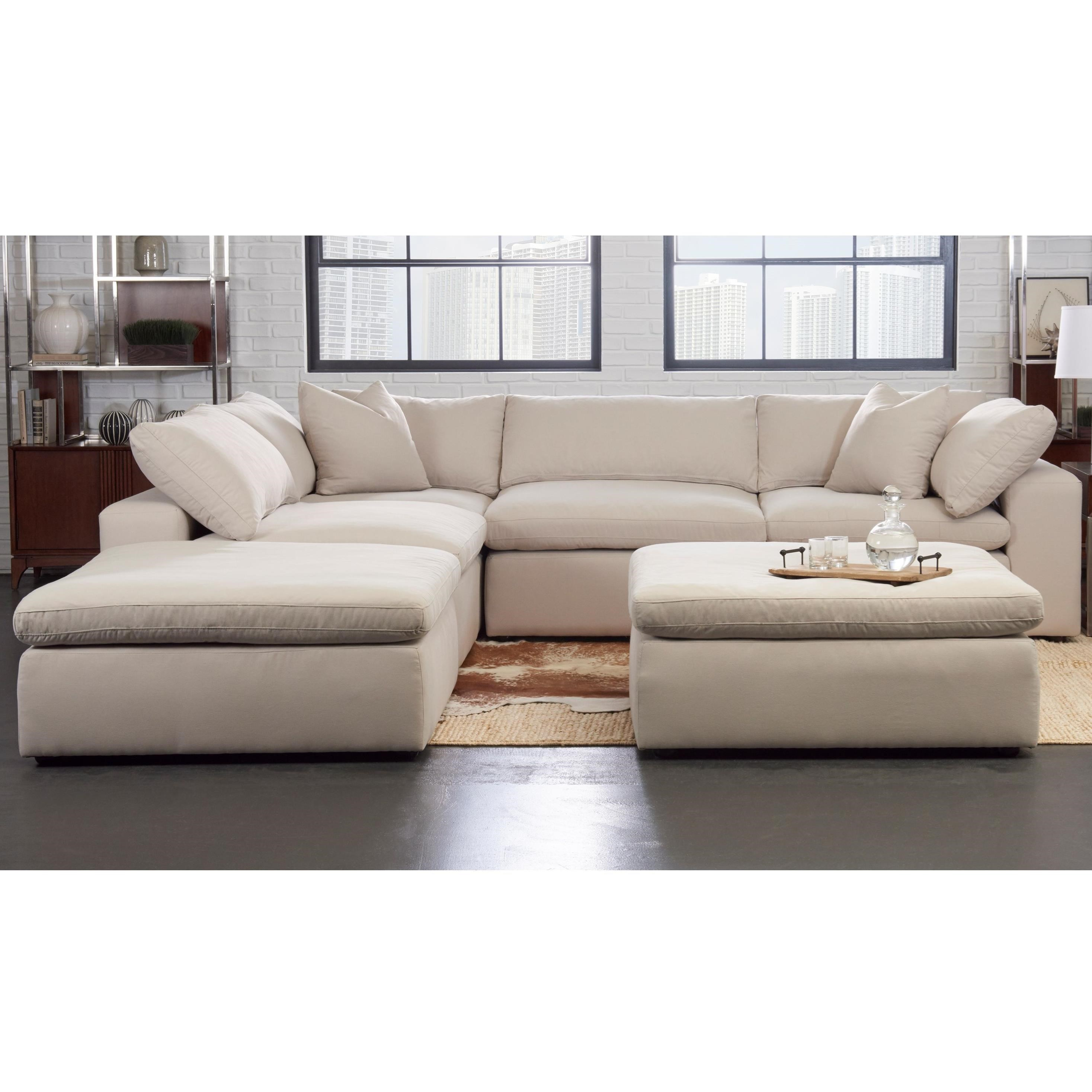 Klaussner Monterey Contemporary 5 Pc Modular Sectional Sofa