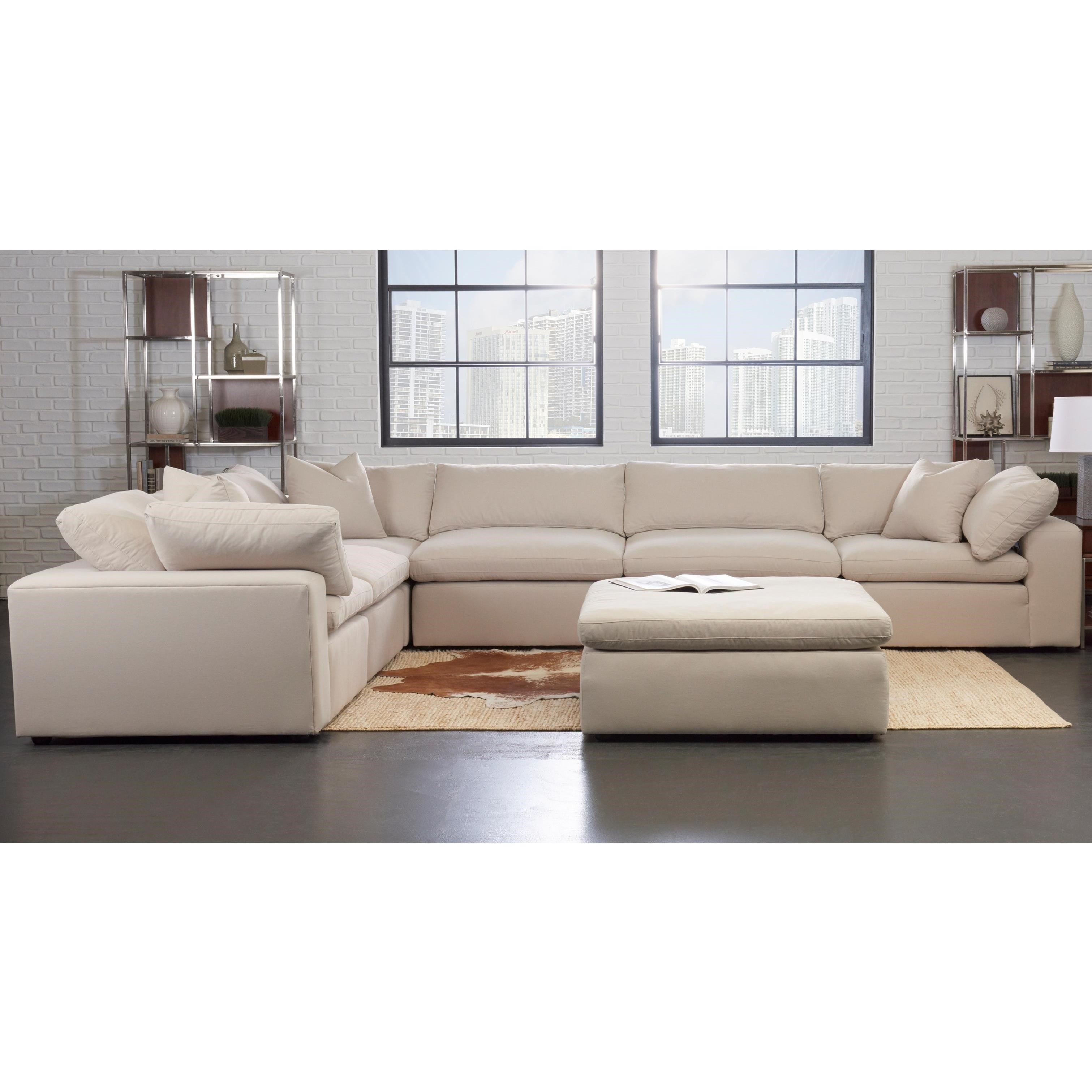 Klaussner Monterey Contemporary 6 Pc Modular Sectional Sofa