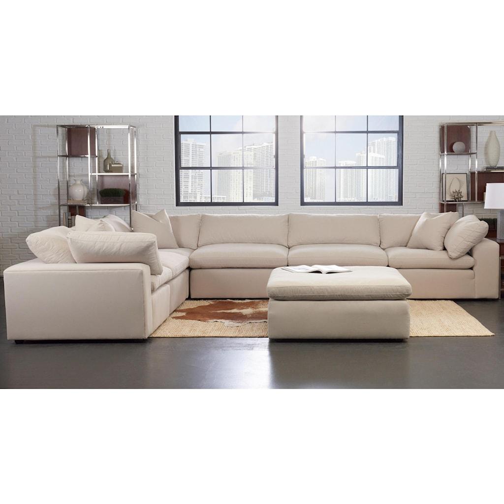 Klaussner Monterey Contemporary 6 Pc Modular Sectional Sofa