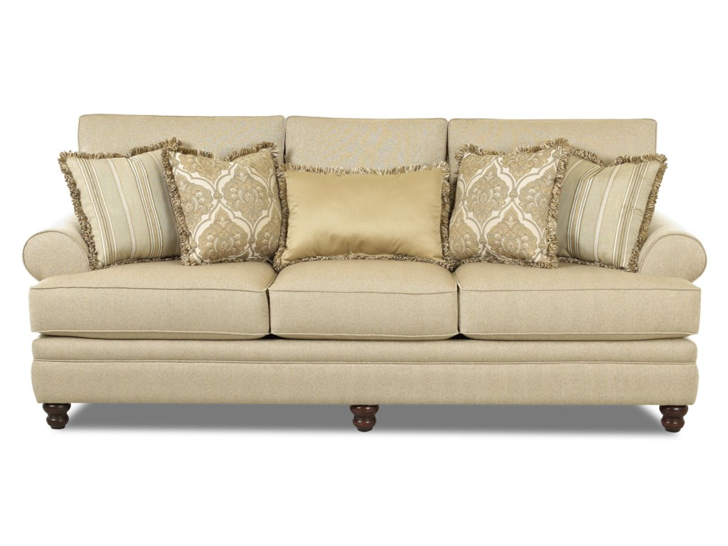 Klaussner DarcyRolled Arm Sofa