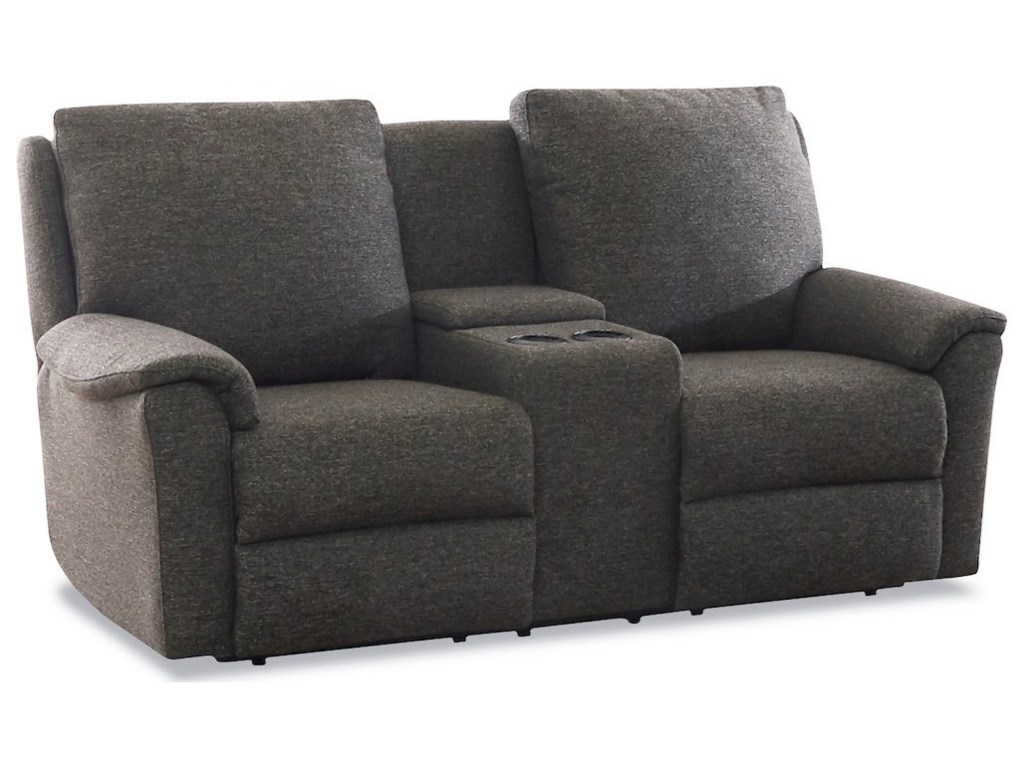Klaussner DavosPower Console Reclining Loveseat w/ Pwr Head