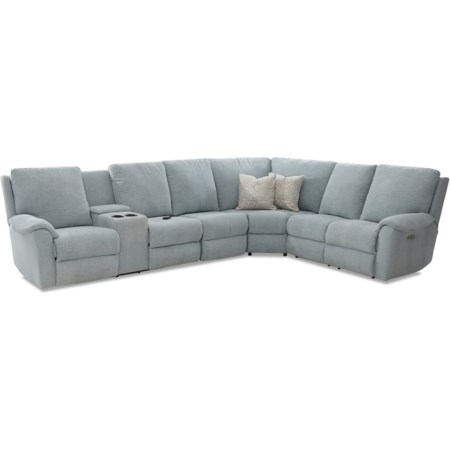 Pwr Recline Sectional w/LAF Cnsl/Pwr Head/Ma