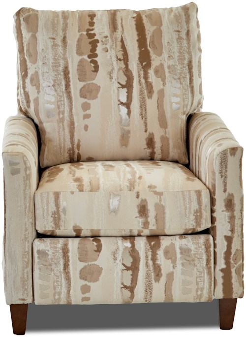 Klaussner Daytona Power High Leg Recliner with Tapered Track Arms