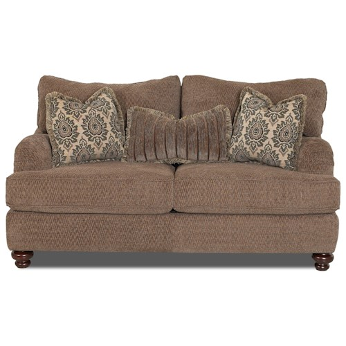 Klaussner Declan Traditional Loveseat with English Arms
