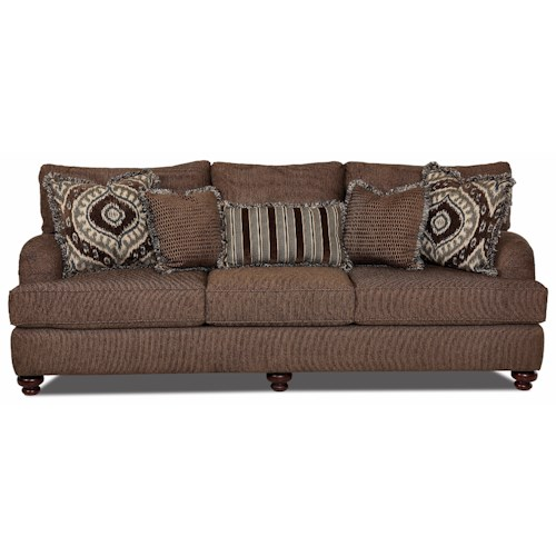 Klaussner Declan  Traditional Sofa with Turned Feet