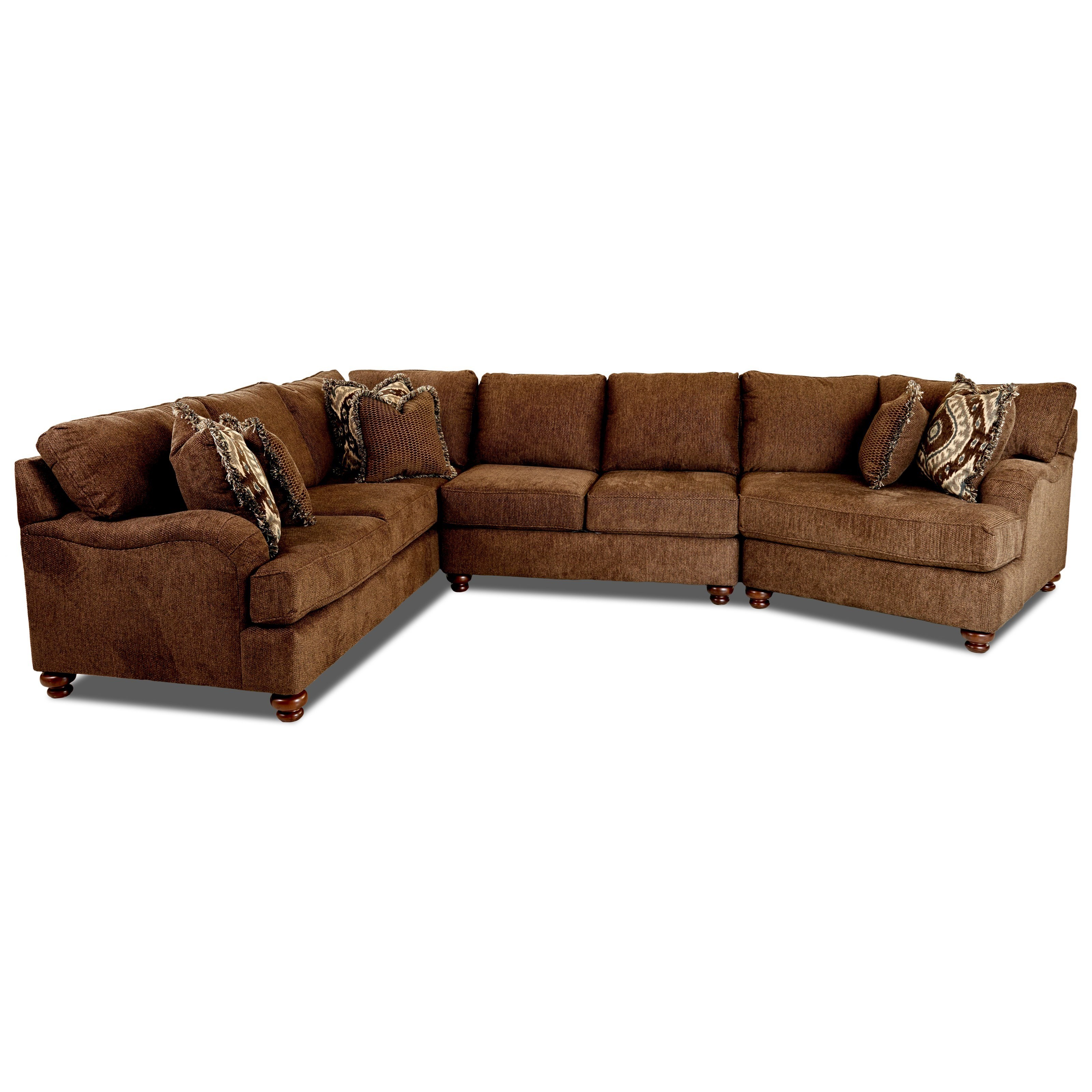 Klaussner Declan 3 Pc Sectional Sofa