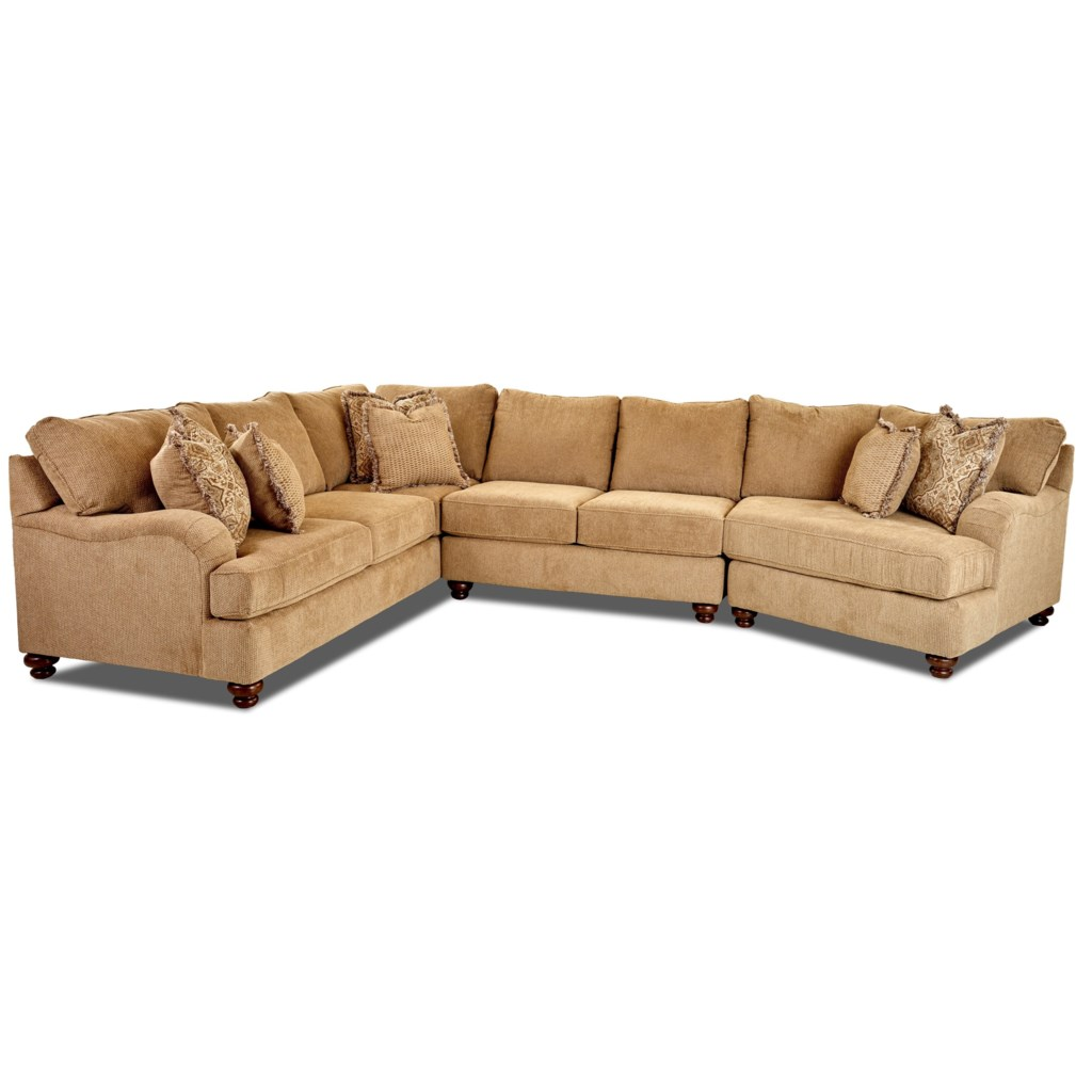 Elliston Place Declan Three Piece Sectional Sofa With Raf Cuddler  ~ Sectional Sofa With Cuddler